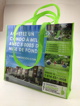 2015 recycle promotion pp non woven tote bag