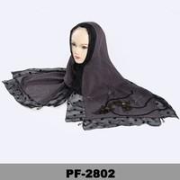 New Black Tassels Fashion embroidery wholesale women arab muslim hijab