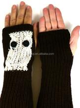 New fashion owl shape style black acrylic arm and hand sleeves