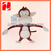 Adorable warm China shenzhen OEM plush monkey long arms