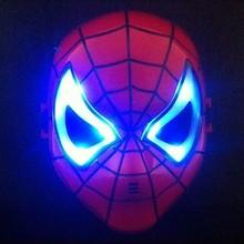 WH-050Yiwu caddy wholesale Halloween hero masks LED The Avengers Mask Captain America Hulk Iron man