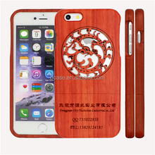 Cutomerized logo Dragon Circle Engrave Wood Phone Case TWO PARTS for Iphone 5/5s/6/6/6+