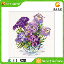 China provider hand work diamond drawing abstract decoration flowers in vase modern painting