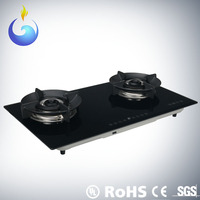 Kitchen standard double burner gas stove 3.7V DC ignition