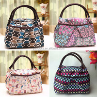 Korean style 1 or 2 persons use lovely full color polka dot printing cute fitness meal bag