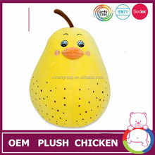 2015 shanghai xinan custom design Lovely plush toy yellow chicken,Direct Manufacturer stuffed toy