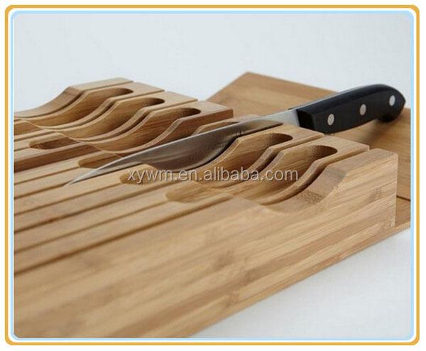 7 슬롯 실용성 대나무 부엌 칼 홀더 세트-블록 & 롤 가방 -상품 ID ...