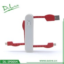 Swiss Folding Design Multi-Functional USB Travel Data Cable Red