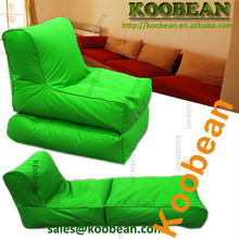 Lime waterproof long folding bean bag , foldable beanbag lounger