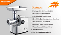 Aluminum housing Meat grinder with 2 speed