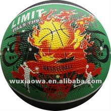 Printed rubber balls/ sporting goods basketball/ sport basket(RB068)