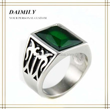 Wholesale fashion turquoise stone stainless steel jewelry ring designs for men