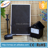 Solar dc swimming fountain pool pump with solar panel