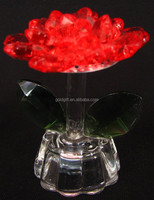 As Christmas Motif Crystal Colorful Flower Gift