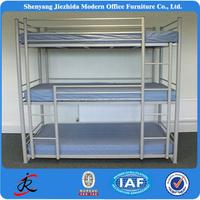 high quality 3 tier 3 sleeper steel metal bunk bed modern bed designs for hostels