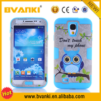 Good Quality Funny Minion Cute Phone Case For Samsung Galaxy S4,Cute Owl Back Cover For Samsung Galaxy S4 I9500 Flexible Case