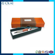 2014 colorful elegant single paper pen box with PU leather
