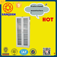SJ-044 modern glass door steel camera storage cabinet