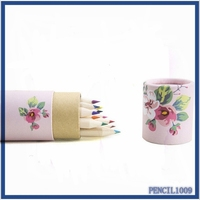 promotional student stationery items Eco Friendly wood color pencil With Your Logo