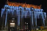 waterproof led falling icicle lights decoration led icicle dripping light for wall decoration