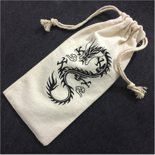 Wholesale double drawstring bags muslin 100%cotton small dust bag