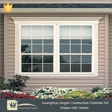 2015 Best decorative UPVC frame window with tempered glass guangzhou