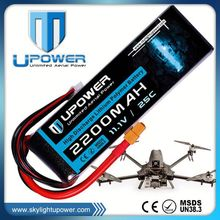 Upower rechargeable lipo battery 11.1v 2200mah 60c 3s for rc models