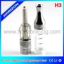 Replaceable coil H3 atomizer, with one and four wicks electronic vaporizer pen