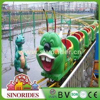 Popular fairground equipment caterpillar roller coaster rides for sale