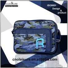 2015 trendy school bags camouflage messenger bag for men
