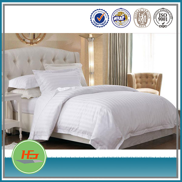 Hotel High Quality Satin Stripe Style Bedding Sets In