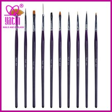 Professional 10pcs Nail Brush for Design and Painting in Nail Art
