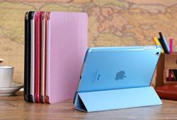 China wholesale pu leather case for ipad mini ,transparent case for ipad mini