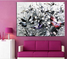 Handmade Modern Abstract Decorative Butterfly Picture Oil Painting On Canvas Wall Art For Living Room As Unique Gift Animals