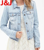 Wholesale woman clothes casual winter jacket women casacos femininos 2014 denim jaqueta jeans female coat cardigan abrigos mujer