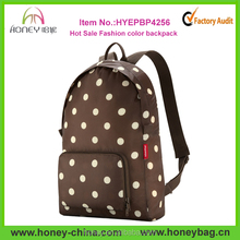 Newest Fashion Color 600D Leisure School Foldable Girls Backpack