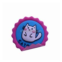 hot sale cute animal logo pvc rubber fridge magnet