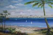 coconut palm landscape paintings wall art