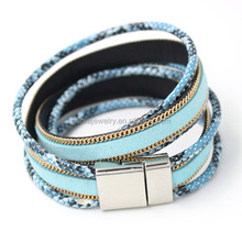 2015 Fashion bracelet Jewelry, Newest Snake Leather Magnetic Bracelet