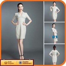 White china new model latest girl designer one piece party dress