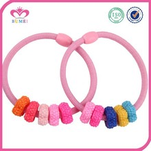 Multicolor elastic hair bands for teen girls