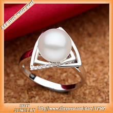 2015 Hot fine jewelry new arrival 925 pure silver fresh water pearl ring manufactory direct sale welcome make customized order