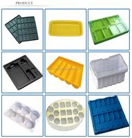 Customized professional PET plastic chocolate tray, plastic cake tray, plastic food tray