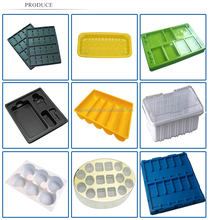 Customized professional PET plastic chocolate tray, plastic cake tray, plastic food tray