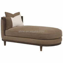 Alime custom hotel white round sofa chaise lounge bed for commercial hotel bedroom and living room furniture ALC621