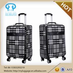 Cheap new good fashion leather 3 pcs set PU luggage