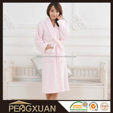 Sexy quality white berber fleece women bathrobe