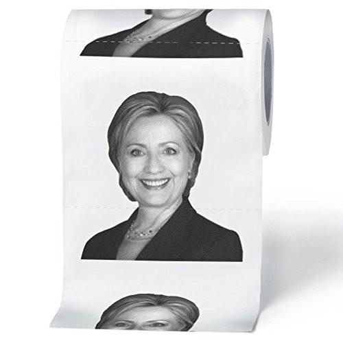Obama Hilary toilet in giấy