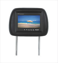 "7"" Headrest Monitor With Pillow,7 inch car lcd headrest monitor with tv"