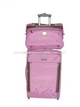 2014 baratos de cuero genuino unisex de la carretilla equipaje& maleta juegos de china